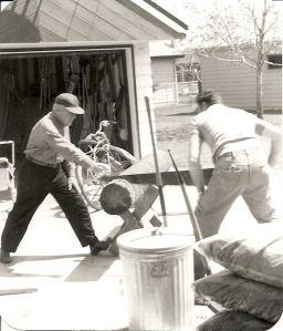 Grandparents working hard